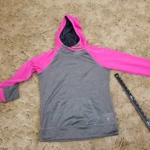 Danskin Now size S /CH (4-6) pink and gray hoodie